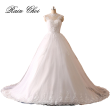 2018 New Ball Gown Real Images Vestido De Novia Tulle Wedding Dress with Lace Bridal Dresses Robe de Marriage Wedding Gown