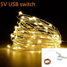 String Light 100 LED 10M USB  Christmas/Wedding/Party/Festival Decoration Lights outdoor  Waterproof Holiday LED Lighting
