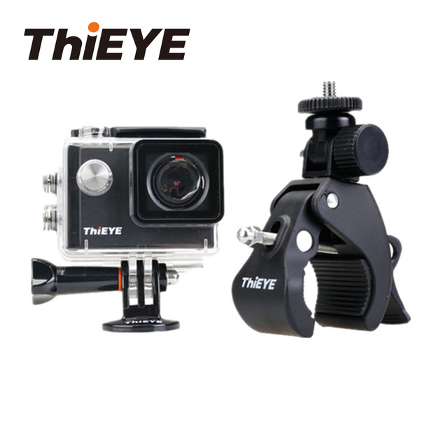 ThiEYE Action Camera Accessories Bicycle Handlebar Handle Clamp Camera Mount for GoPro Hero 5 6 4 Xiaomi Yi H9 Bike Clip Holder