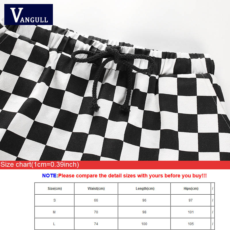 Image 5 - Vangull Plaid Pants Womens High Waist Checkered Straight Loose Sweat Pants Casual Fashion Trousers Pantalon Femme Sweatpants-in Pants & Capris from Women's Clothing