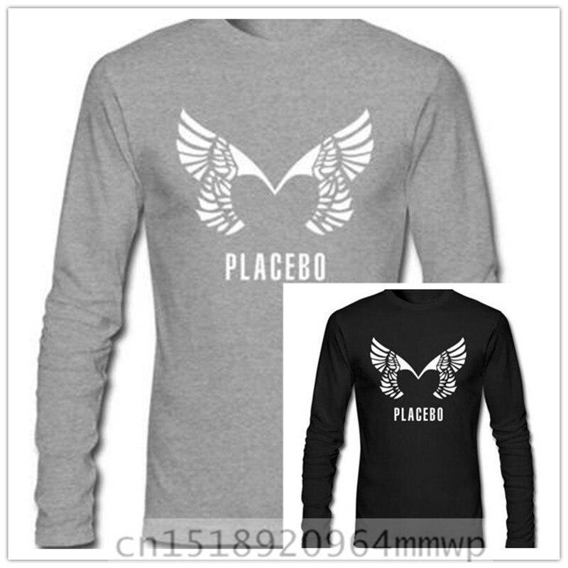 Ücretsiz kargo erkek Plasebo Band Uzun Kollu T-shirt % 100% Pamuk