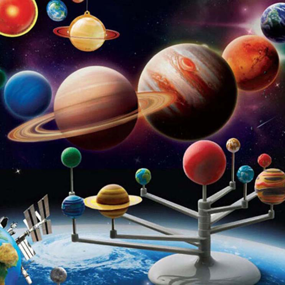 Solar System Planetarium Model Kit Children Early Learning Educational Toys Astronomy Science Project DIY Kids Birthday Gifts