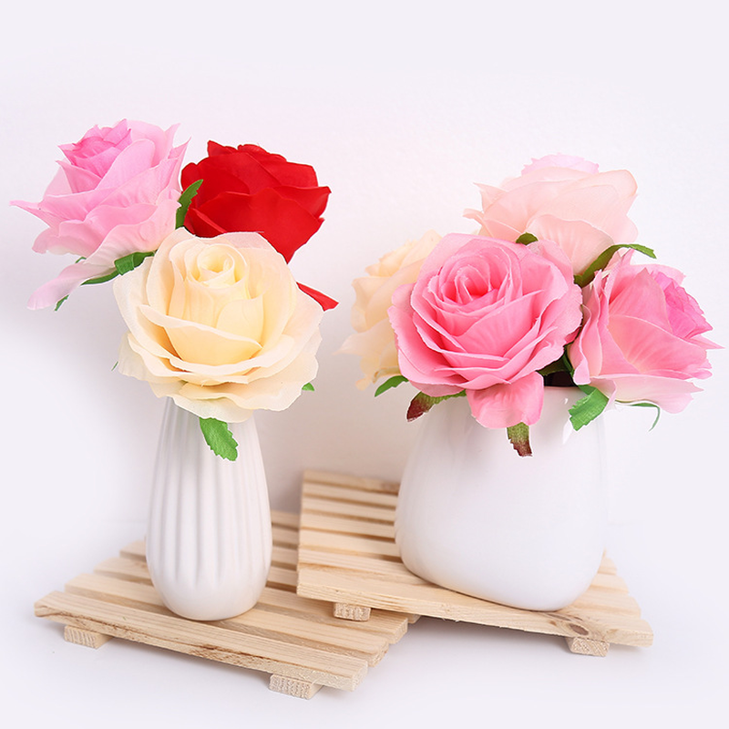 20pcs Simulation Rose Flower Artificial Rose Flower Wedding Road Lead Handmade Crafts Accessories in Artificial Dried Flowers from Home Garden