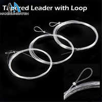 Maximumcatch 7.5ft-15ft 0X-7X Tapered Leader with Loop Nylon Leader Clear Fly Fishing Line