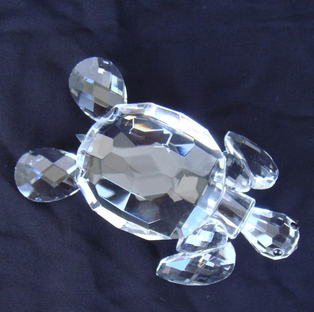 Miniature crystal ornaments - Crystal Quartz Sea Turtle Miniature Cut Glass Hawksbill Figurine Minerals Marine Animal Decoration Craft Ornament Accessories