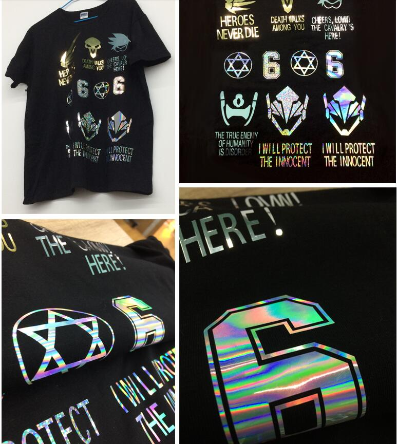 Image 4 - Free shipping 25cmx100cmMetallic & Laser Heat Transfer Vinyl Camouflage Rainbow Iron on Film  HTV T shirtFilm-in Decorative Films from Home & Garden
