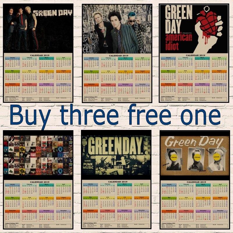 green day punk rocks 2019 calendar poster band decorative paintings