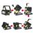 Holofotes recarregável Portátil LEVOU Holofote de Iluminação Móveis de Acampamento Ao Ar Livre Gramado Luz 36 LEDs com 4*18650 Baterias