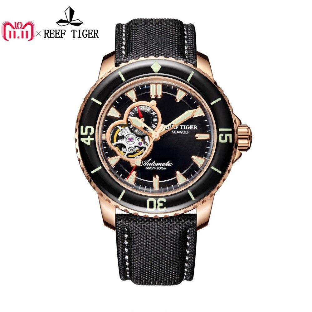 все цены на Reef Tiger/RT Sport Automatic Watches for Men Rose Gold-Tone Super Luminous Dive Watch RGA3039 онлайн