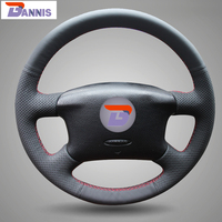 BANNIS Black Artificial Leather DIY Hand stitched Steering Wheel Cover for Volkswagen Passat B5 VW Passat B5 VW Golf 4