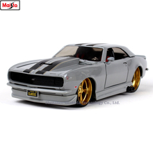 Maisto 1:24 1968 Chevrolet Camaro Z2 Retro simulation alloy car model crafts decoration collection toy tools gift