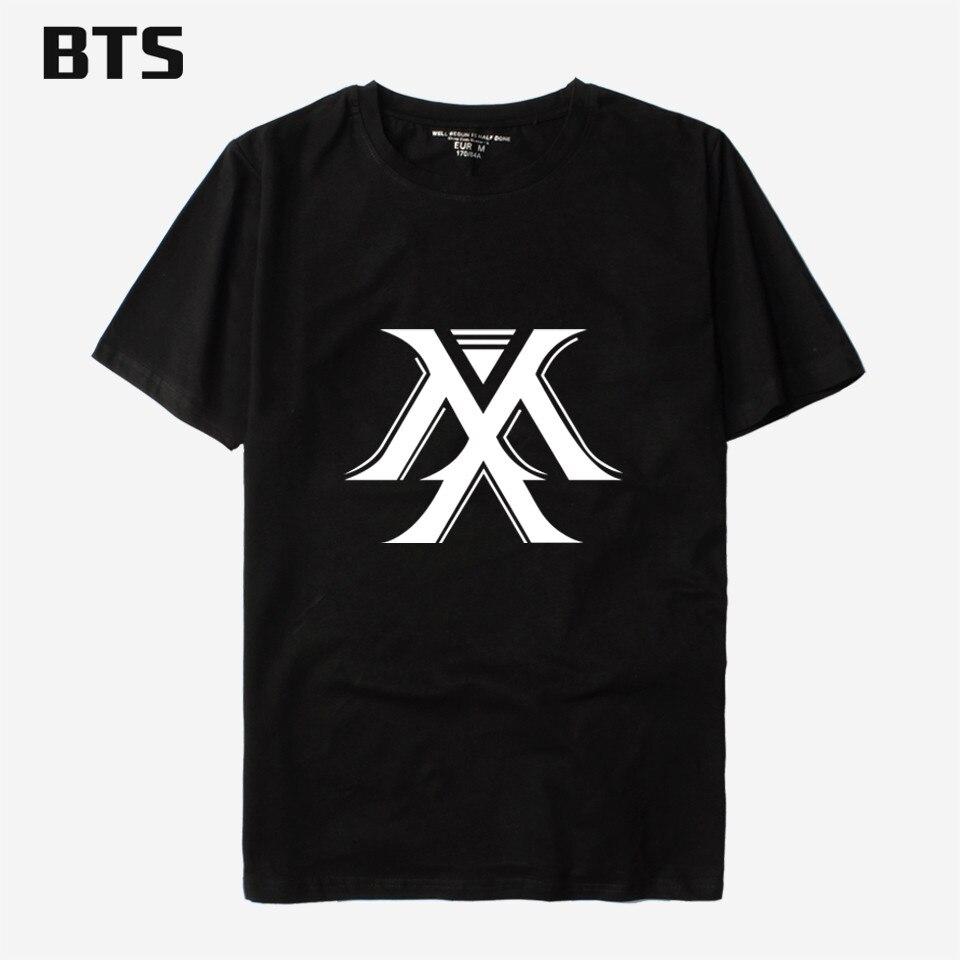 BTS Youpop KPOP Korean Fashion MONSTA X T-shirt I.M JOOHEON MINHYUK SHOWNU Cotton Tshirt T Shirt Short-Sleeve K-pop Tops