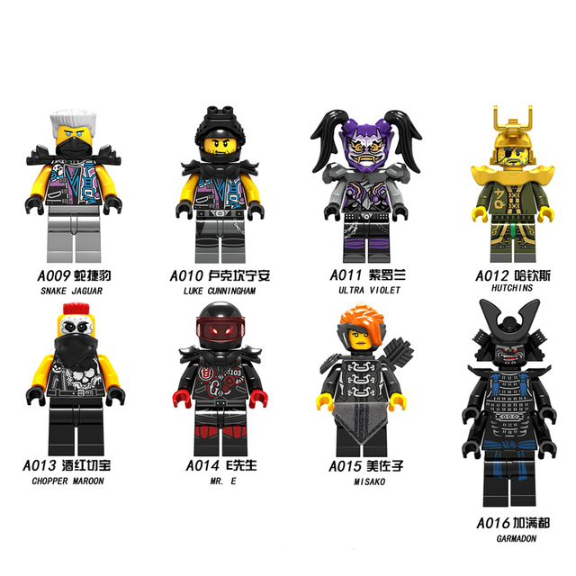 1pcs Ninja Mini action Figures Building Blocks Kids 3