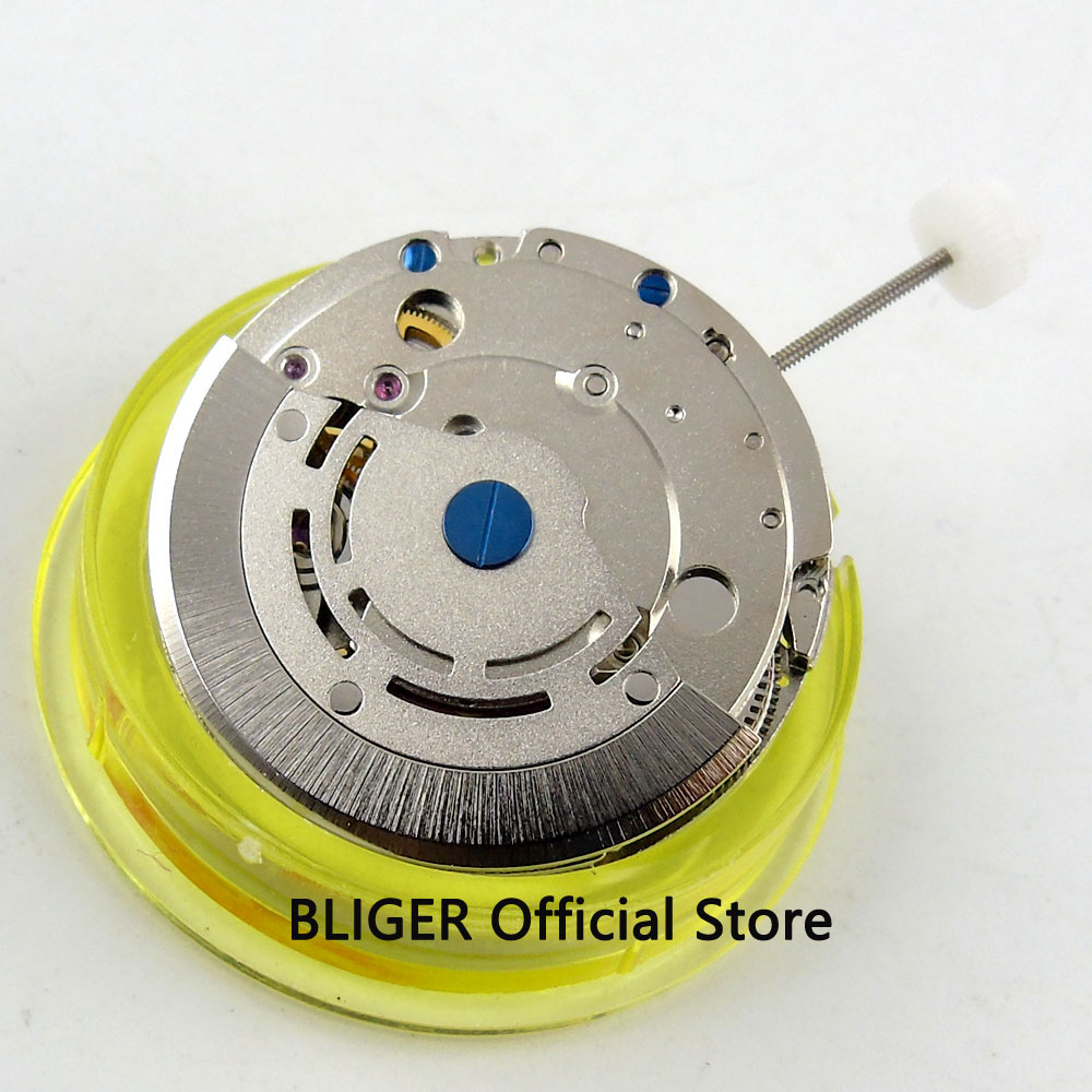 Mécanique Mingzhu 3804 mouvement automatique affichage de la date mouvement de montre GMT BM13-in Montre Enrouleurs from Montres    3