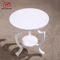 Новый adurable твердой древесины чайный столик белый круглый минималистский современный деревянный приставной столик дома гостиная антикварн