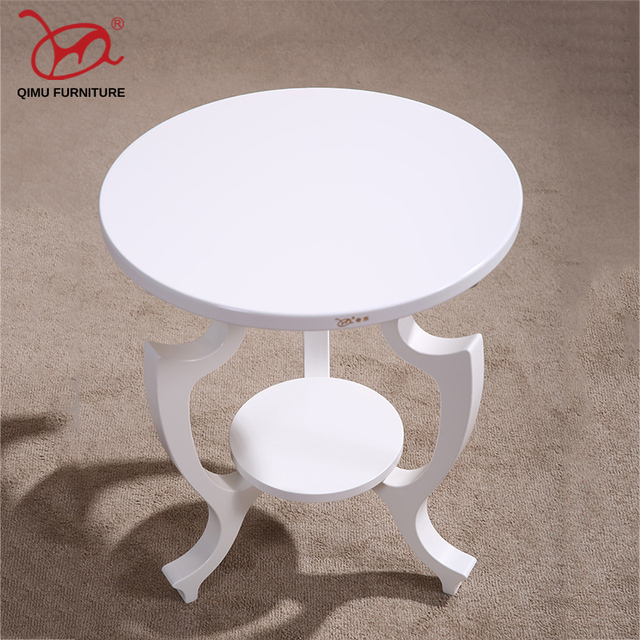 New Adurable Solid Wood Tea Table White Round Minimalist Modern Wooden End Home Living Room Antique Furniture M203