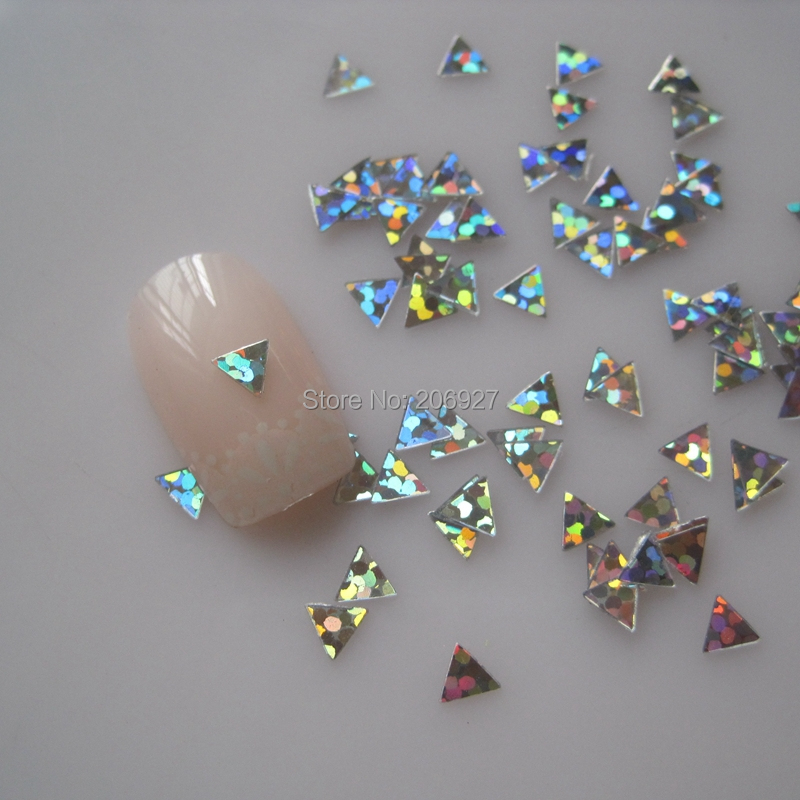 GD25-2 20g/bag Cute Laser Silver Triangle Nail Art Shinny Glitter Cute Decoration Nail Art Decoration romanson rm 9207q lj gd