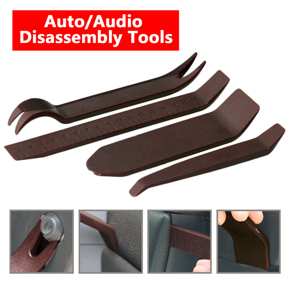 4x Luxury Plastic Repairing Tool Car Radio Door Clip Panel Trim Dash Audio Stereo Removal Installation Pry For BMW Audi Benz VW