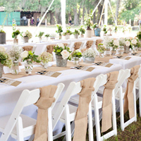 burlap table runner Burlap Chair Sashes Cover jute Tie Bow Burlap Lace Tableware Pouch Banquet Rustic Wedding diy Decoration
