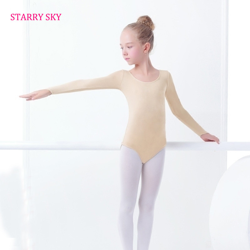 489c64cce cheap for sale fc7d0 f5eb8 long sleeves kids skin colored ballet ...