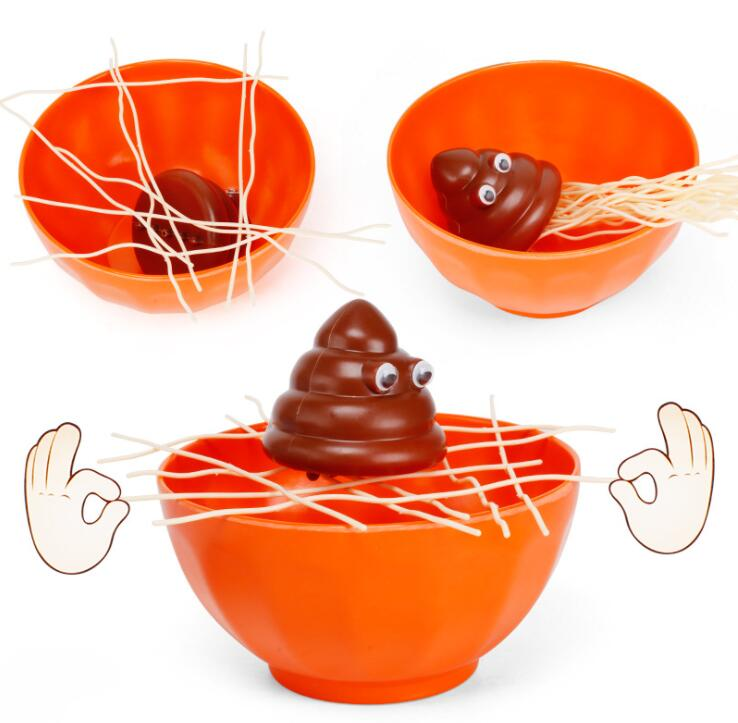 Novelty & Gag Toys Funny Split Noodles Desktop Games Kids Puzzle Multiplayer Interact Feces Come To Bowl To Toys For Children