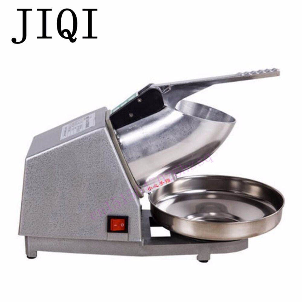 JIQI commercial home Ice crusher ice maker high power electric ice breaking machine hand driven ice crusher commercial and home use crushed ice machine zf