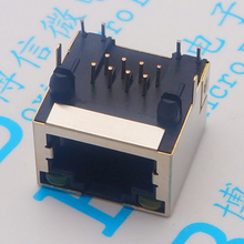 All copper RJ45 socket with light 56 network 8P8C shielded