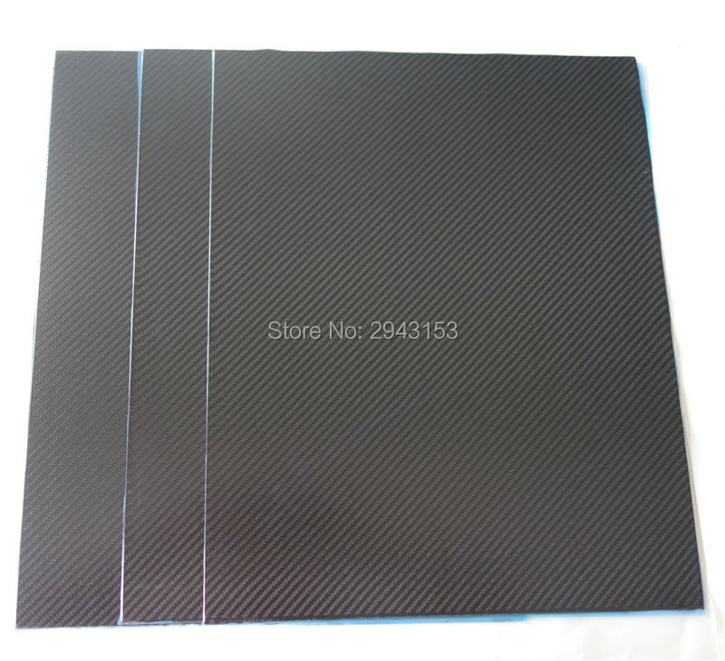 3K glossy matt Carbon Fiber plate panel sheet 2.0*400*500mm for RC Airplane Quadcopter Multirotor frame free shipping 400mm x 500mm green line glossy carbon fiber plate cf plate carbon sheet carbon panel