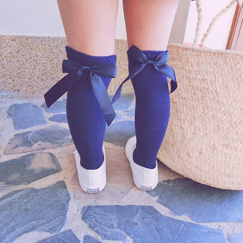 חמוד יילוד תינוק חצי קשת גרביים מעל הברך גבוהה ארוך רך כותנה תינוק גרבי עבור בנות חורף אנטי להחליק גרביים לילדים