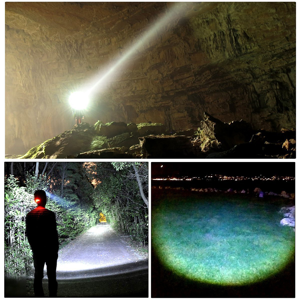 Image 5 - USB rechargeable LED Headlamp 5 white light or 3 white + 2 bule light waterproof led headlight fishing lamp use 18650 battery-in Headlamps from Lights & Lighting