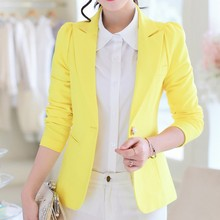 Single Button Blazer Coat for Women Clothing Slim Fit