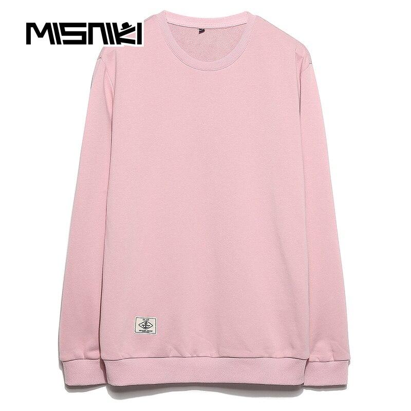 MISNIKI 2017 Spring Autumn Sweatshirt Men Solid Cotton Casual Slim Mens Hoodies Coat