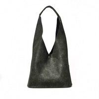 Korean Style Simple Women Handbag Portable Large Shopping Bag Sets 2 Pcs Composite Pu Leather Ladies