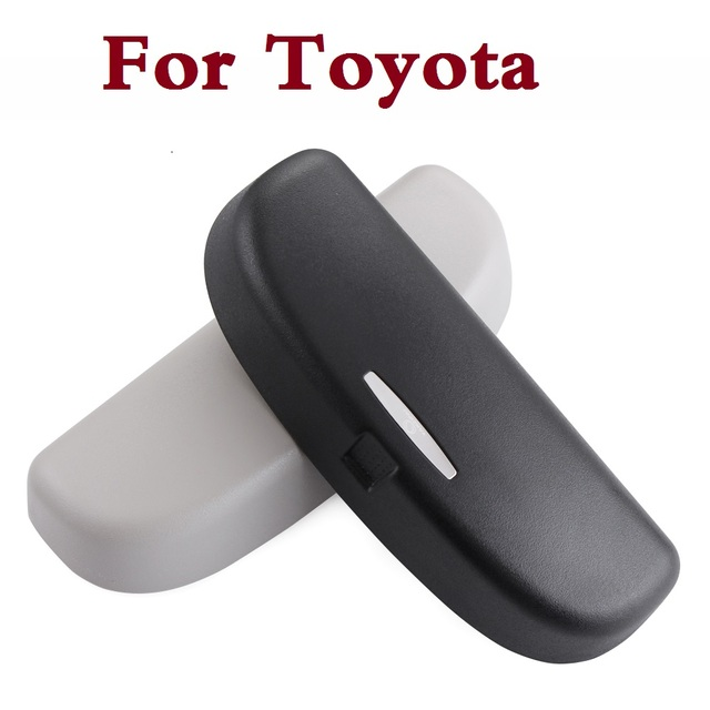 New Car Glass Case Sun Glass Holder Box Storage ABS Beige For Toyota Hilux  Surf IQ