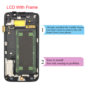 Image 3 - شاشة LCD تعمل باللمس لسامسونج غالاكسي S6 حافة G925 G925I G925F محول الأرقام مع الجمعية الإطار استبدال 100% اختبارها