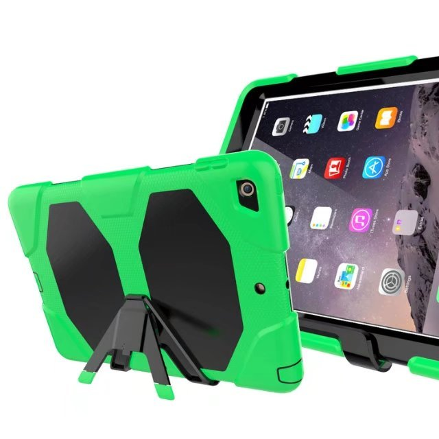 New Version Hybrid Armor Waterproof Shockproof Dustproof Kids Safe Stand silicon Case for ipad 5 Air 1 Cover For ipad Air1 Shell
