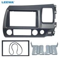 LEEWA Car DVD/CD Radio Audio Fascia Panel Frame Adaptor Fitting Kit For Honda CIVIC(RHD) 2DIN Stereo Plate Frame Installation