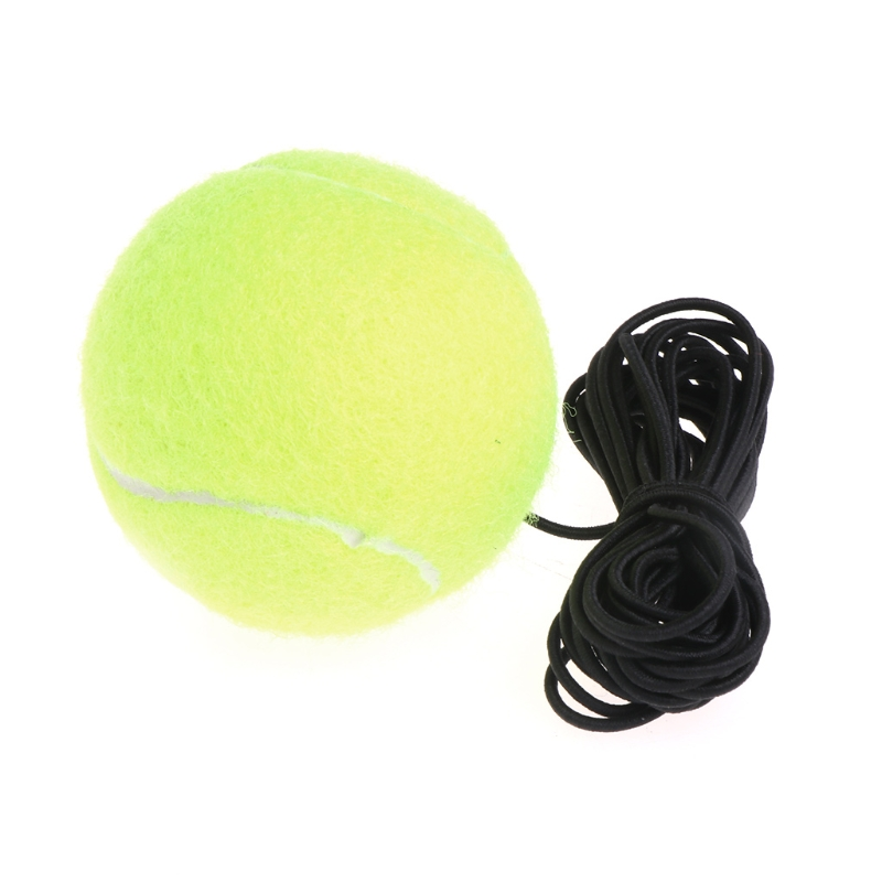 Green Resilience Tennis Balls Trainer Exercise Rubber Cord Elastic Band Rebound Rubber