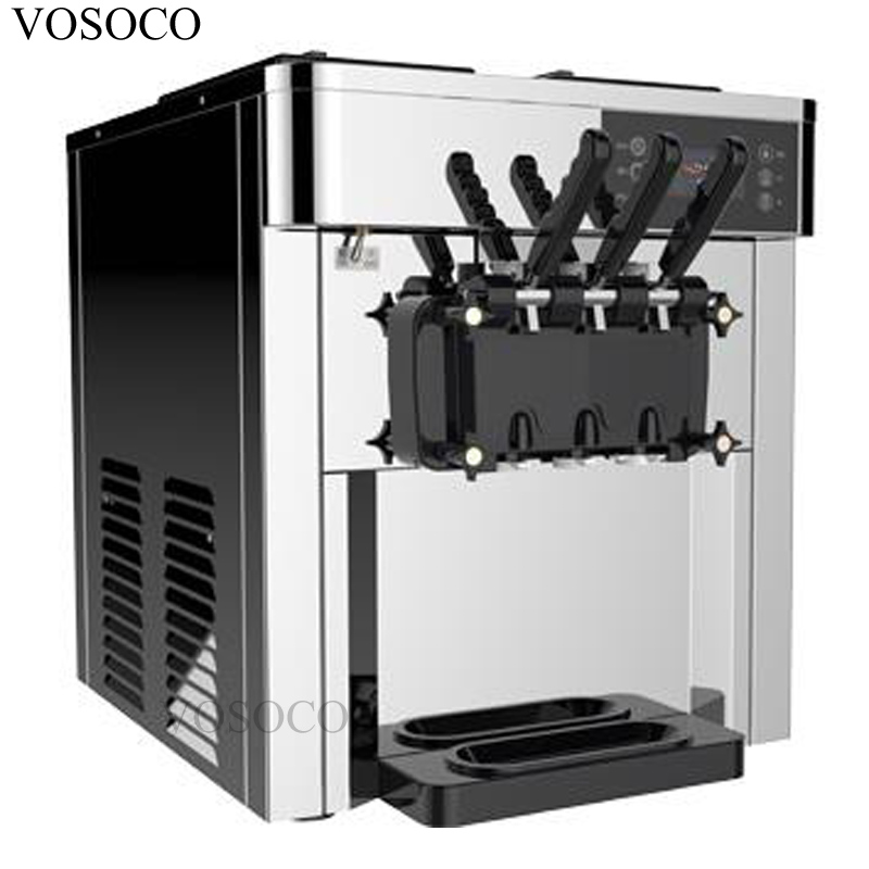 VOSOCO Ice cream machine commercial ice cream puffing LCD touch screen 2500W soft ice cream automatic cone ice cream machine mexx ice touch woman