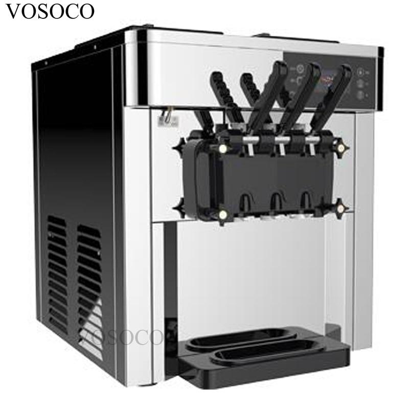 VOSOCO Ice cream machine commercial ice cream puffing LCD touch screen 2500W soft ice cream automatic cone ice cream machine