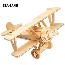 A Toys For Children 3D Puzzle Diy Wooden Puzzle Neubert Aircraft A Kids Toys Also Suitable