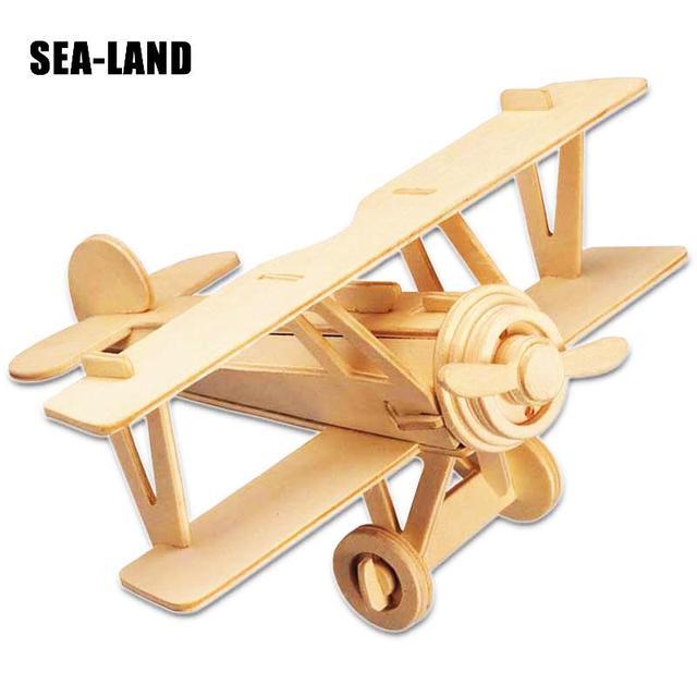 Un Jouets Pour Enfants 3D Puzzle bricolage Puzzle en bois Neubert Avions jouets pour enfants Également Adapté Adulte Jeu Cadeau De qualité supérieure Bois