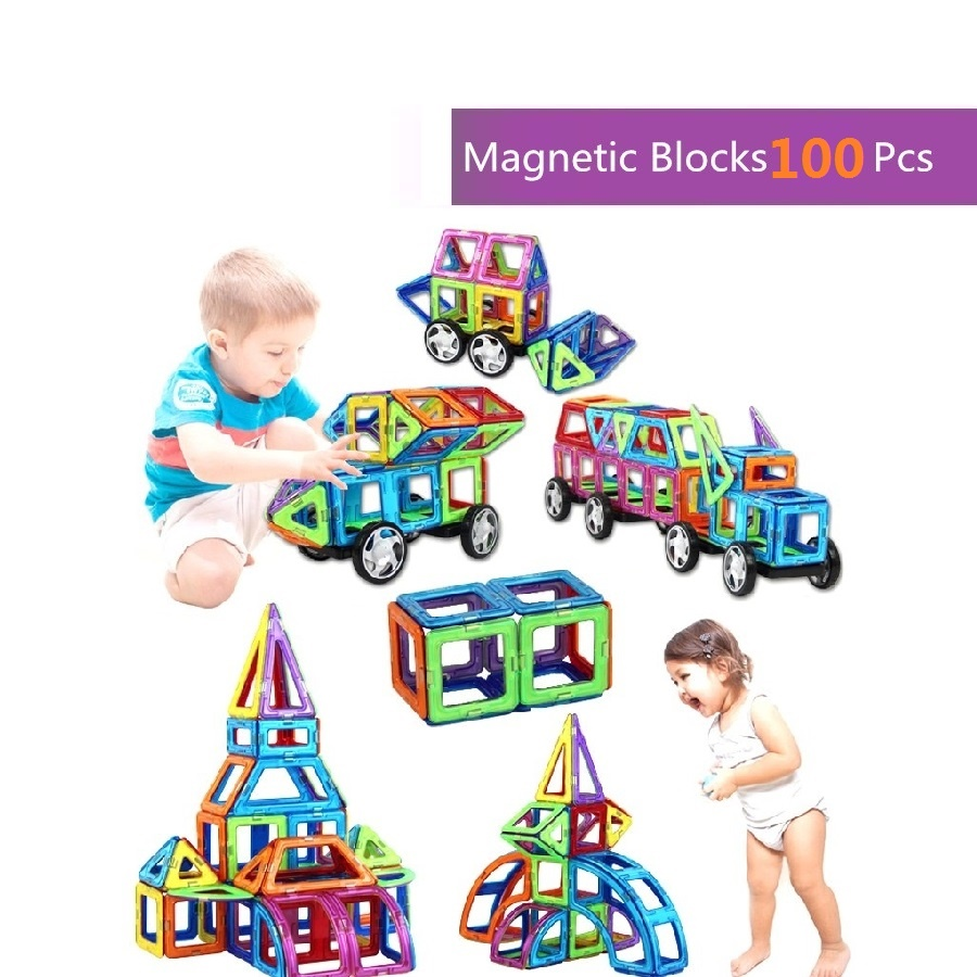 100pcs Magic Building Block Magnetic Toys Preschool Skills Educational Game Construction Stacking Sets Block Brick Magnetic gift hot sale 1000g dynamic amazing diy educational toys no mess indoor magic play sand children toys mars space sand