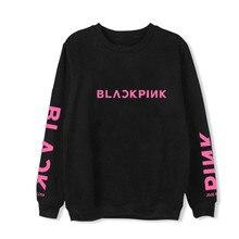 BLACKPINK Hoodie Women Letter Print Sweatshirt Ladies Casual Korean Style Women Long Sleeve O-Neck Streetwear Hip Hop Hoodie preppy style women s round neck color block long sleeve letter print flocking sweatshirt