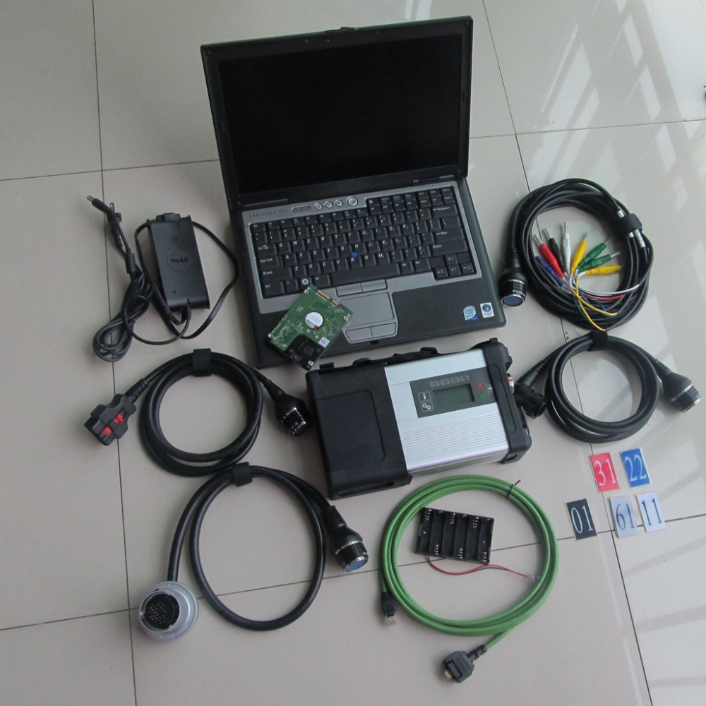 MB C5 Star Diagnosis System WIN7 Software 2016.12v with mb star c5 sd multiplexer with laptop D630(2gb) diagnostic pc dhl free