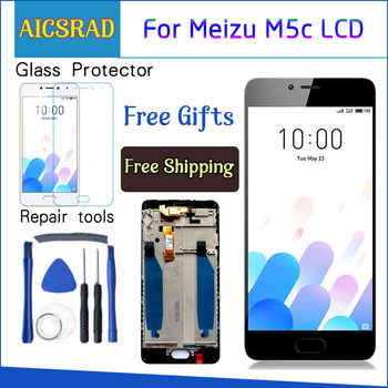 AICSRAD New LCD Display Replacement + Touch Screen Digitizer For Meizu M5C / Meilan 5C Black White Color Free Shipping - DISCOUNT ITEM  6% OFF All Category