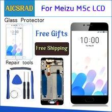 AICSRAD Yeni lcd ekran Değiştirme + dokunmatik ekran digitizer Meizu M5C/Meilan 5C Siyah Beyaz Renk Ücretsiz Kargo