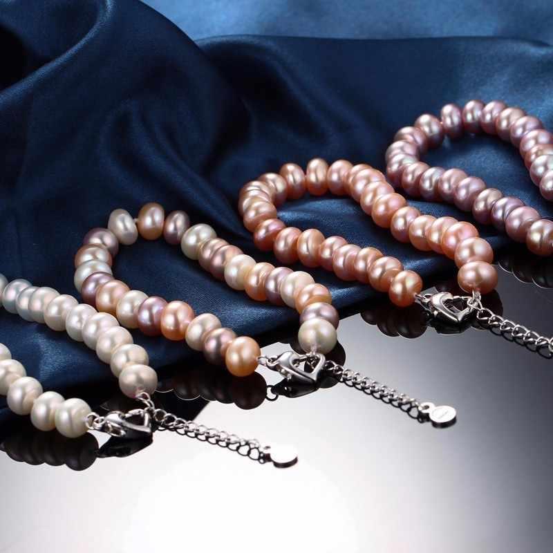 Dainashi TOP Qualität Natürliche Perle Ohrringe/Armband 925 Sterling Silber Schnalle Kette Armband Ohrring Quaste Schmuck Sets