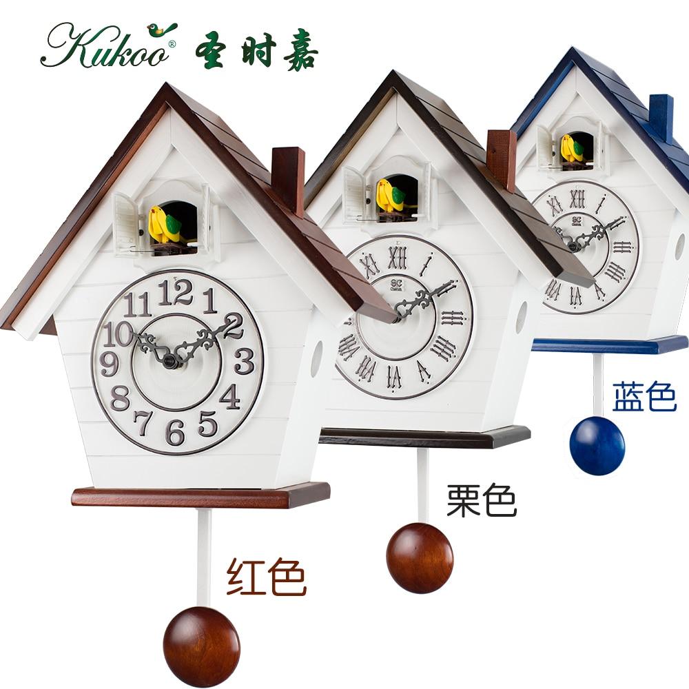 Rustikální dětské pokoje kukačkové hodiny, fotopřepínací budík nástěnné hodiny červené a modré
