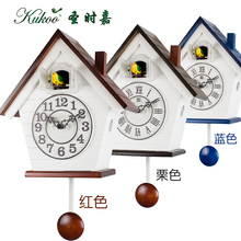 Rustic children rooms cuckoo clock ,photoswitchable alarm wall clock red and blue